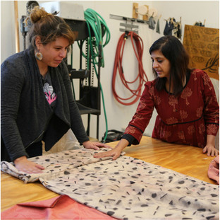 Residency at UW Madison- Tactile Textiles- From 2D to 3D. Student critique.