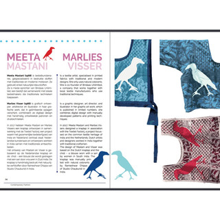 An article on the Indian choli and Dutch kraplap made in association with Textiel Factorij