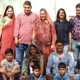 Collaboration with Chaubundi- 4th generation hand printers, Rajasthan