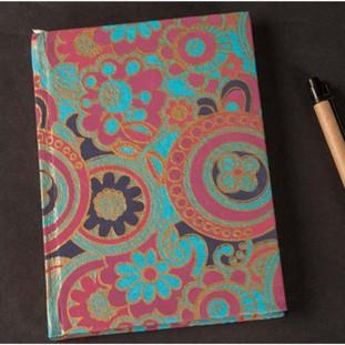 Screen printed handmade paper diary