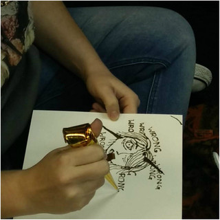 Political Henna workshop at 'The Studio', UW Madison