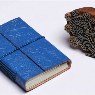 Leather handmade paper diary