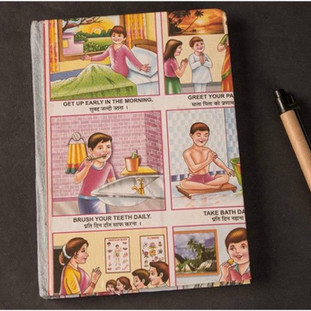 School graphic hand made paper diary