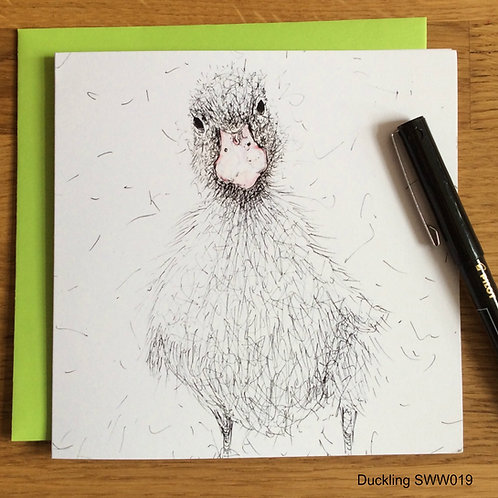 Duckling card - Solo Wire Work Range