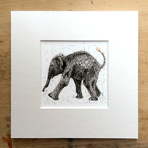 Solo Dancing Elephant Print