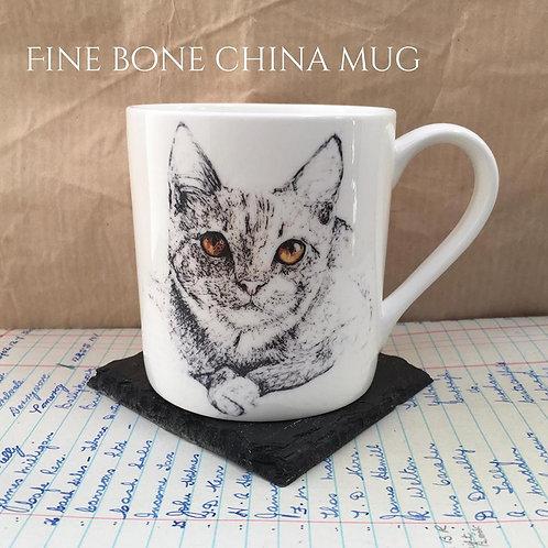 Amber Eyed Cat Mug
