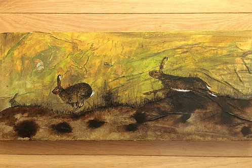 Running Hares Original Canvas