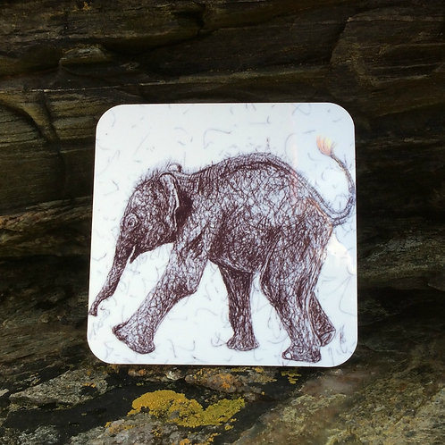 Solo Wire Work Elephant Coaster