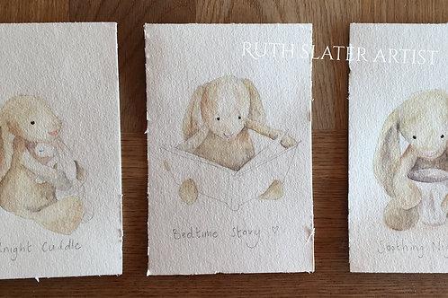 Triple Postcard Option Bunnies May 7th