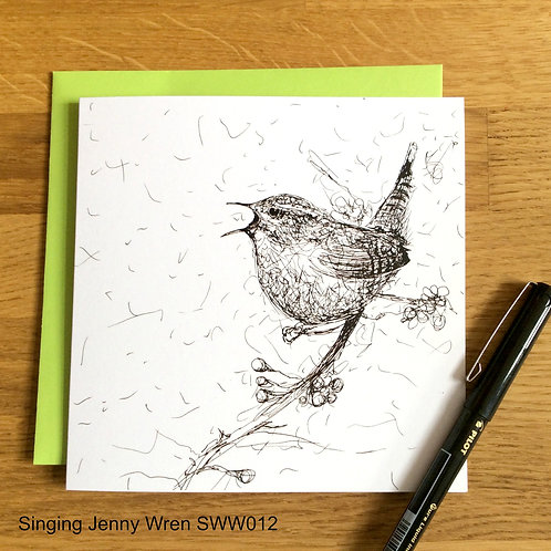 Singing Jenny Wren - Solo Wire Work Card