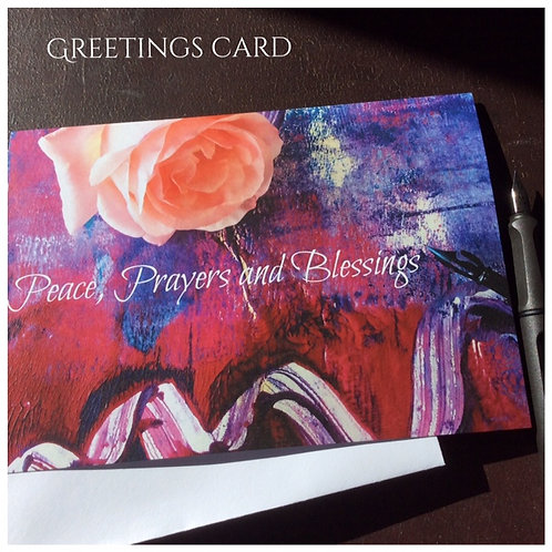 Peace, Prayers and Blessings Card