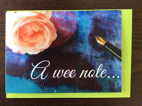 A wee note card