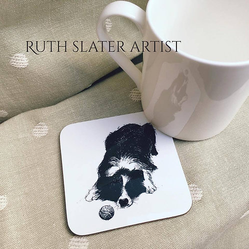 Collie with ball coaster