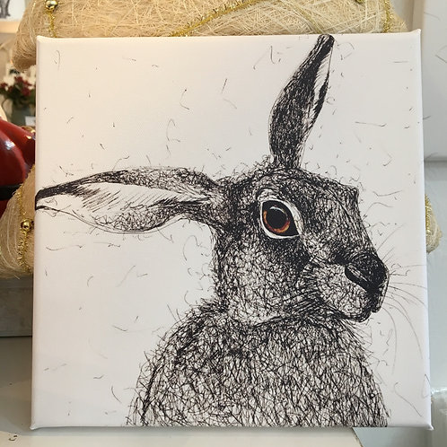 Mini Hare Canvas (20cm x 20cm)