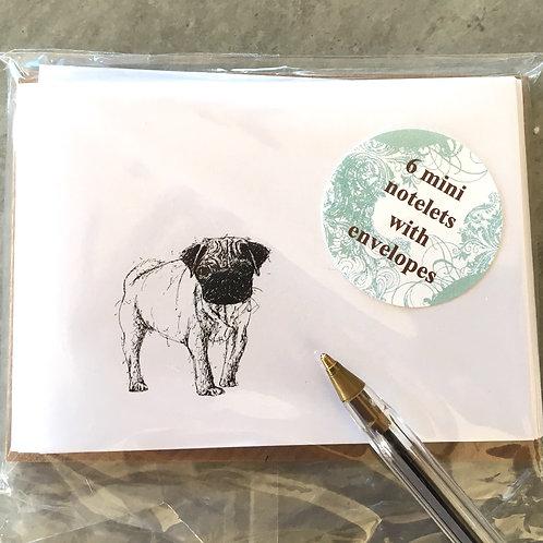 Pug Notelets