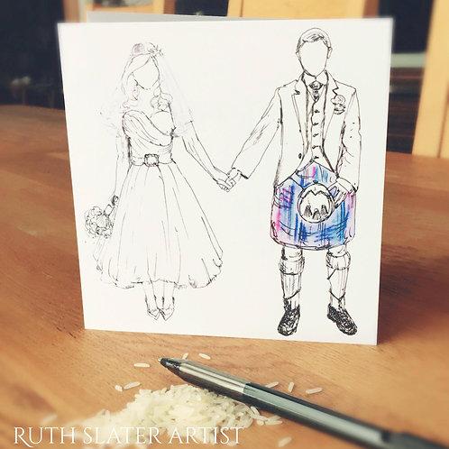 Tartan Wedding Card
