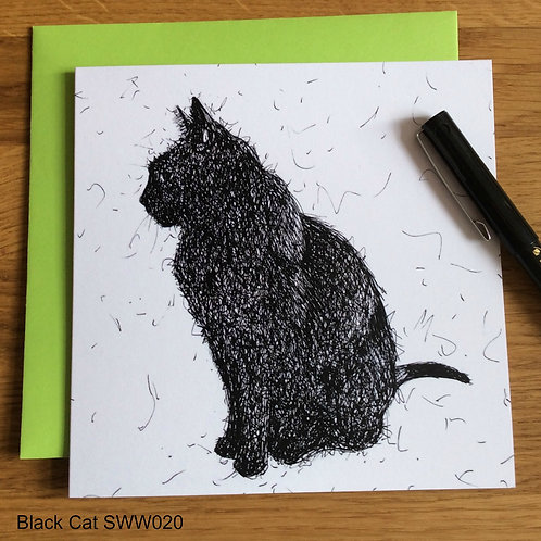 Black Cat card - Solo Wire Work Range