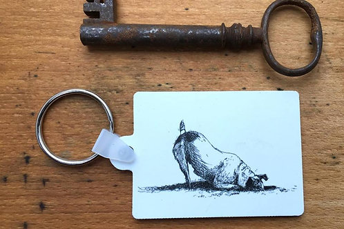 Digging Dog Keyring (+postage)