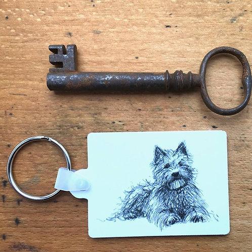 Terrier Keyring (+postage)