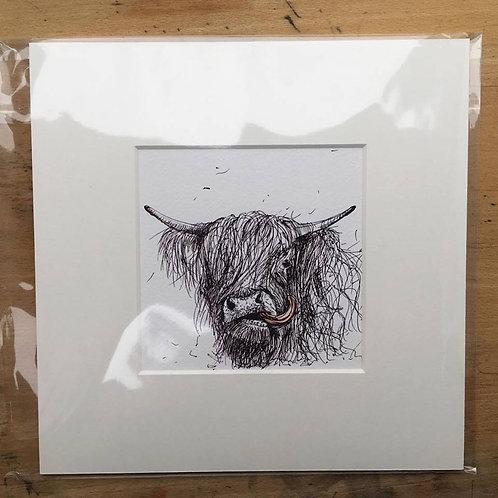 Cheeky Cow (2) Print
