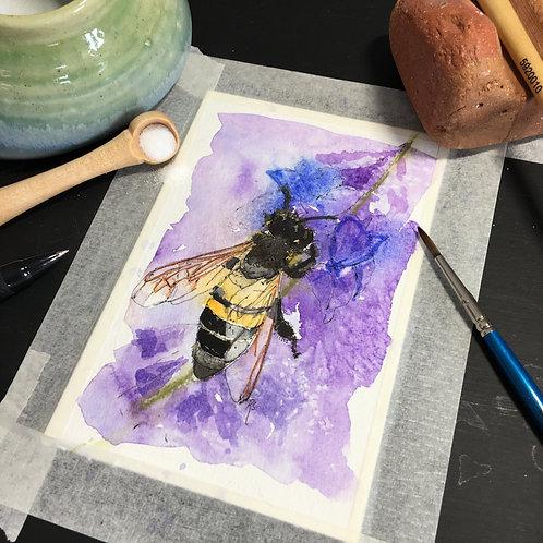 Watercolour Postcard Original