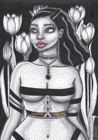Mya Black Background