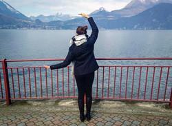 Ariane at Lake Como, Italy