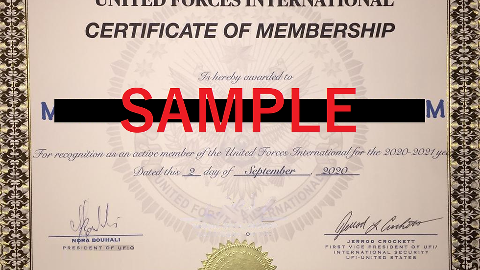 """Ask for a Duplicate or a Replacement of your UFIO """" Membership Certificate """""""