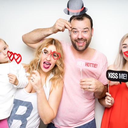 Familie Selfie-Fotosession im Fotostübli