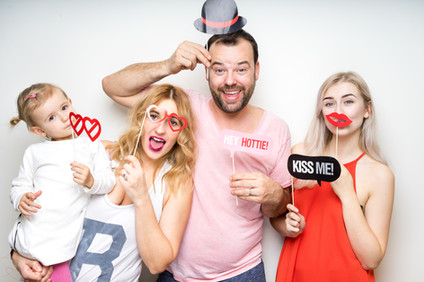 Familie Photo Booth Foto-Shooting