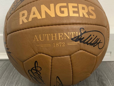 The winner of the signed Rangers ball is Agnes Johnston of Falkirk who has been notified.