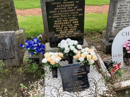 The Restoration of Rangers Graves Project. Remembering the 66-Alexander Orr.