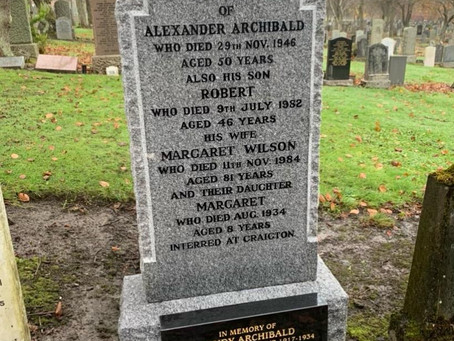 The Restoration of Rangers Graves Project and Sandy Archibald.