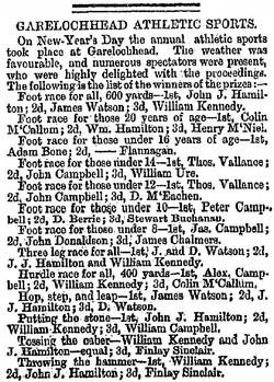 The Herald Wednesday, January 8, 1868 Garelochhead sports