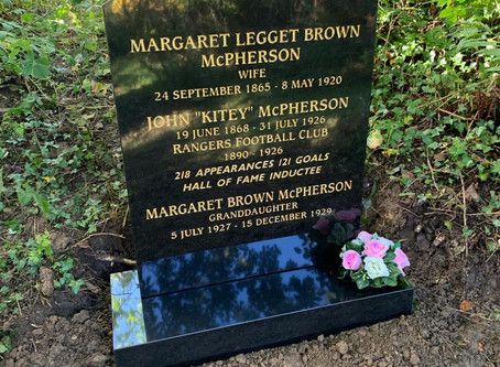 The Restoration of Rangers  Graves Project and John ''Kitey'' McPherson  Rangers FC 1890-1926