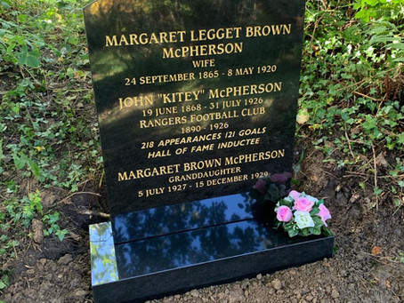 The Restoration of Rangers  Graves Project and John ''Kitey'' McPherson  Rangers FC 1890-1926