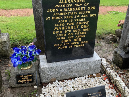 UPDATE - The Restoration of Rangers Graves Project. Remembering the 66-Alexander Orr.