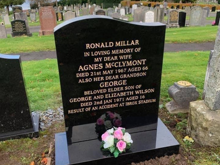 Donation! The Restoration of Rangers Graves Project And The Kingdom True Blues RSC.