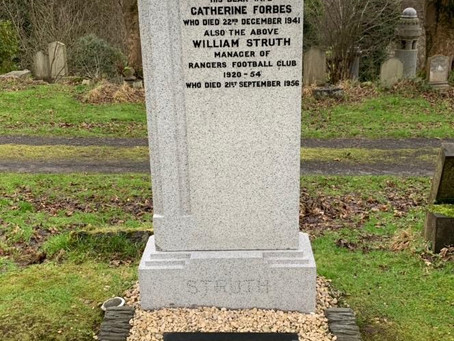 The Restoration of Rangers Graves Project and The Calderwood Rangers Supporters Club.