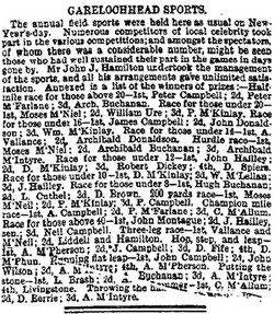 The Herald Monday, January 5, 1874 Garelochead Sports