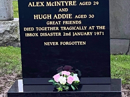 The Restoration of Rangers Graves Project Remembering the 66. Alex McIntyre and Hugh Addie.