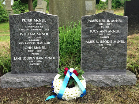 The Restoration of Rangers Graves Project and the Corby Loyal.