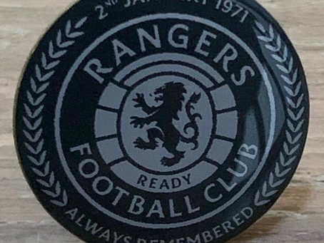 £5 Draw for a 50th Anniversary Badge. All Proceeds to the Restoration of Rangers Graves Project.