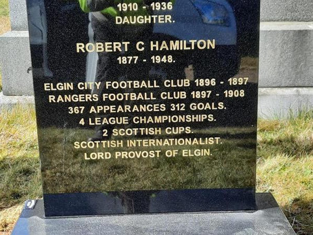 The Restoration of Rangers Graves Project and Robert Cumming Hamilton.