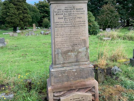 Update! The Restoration of Rangers Graves Project. John Barker Rangers Football Club 1892-1896.