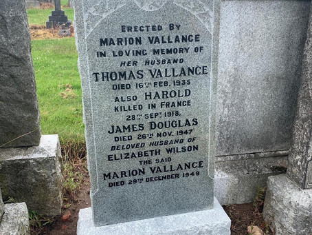 The Restoration of Rangers Graves Project. Tom Vallance.