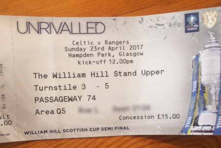 Raffle For Semi Final Ticket In Aid of Graves Restoration Project.