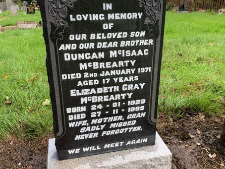 The Restoration of Rangers Graves Project Remembering the 66.  Duncan McBrearty.