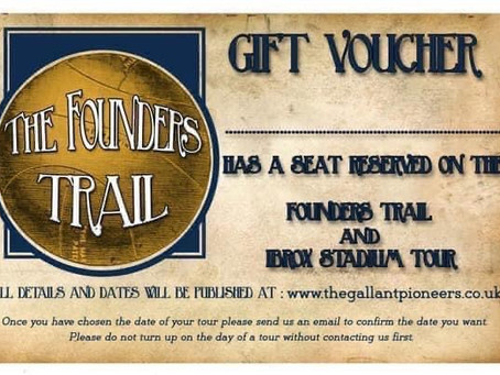 The Founders Trail Christmas Gift Voucher.