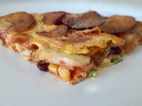 Potato and Red Bean Omelette